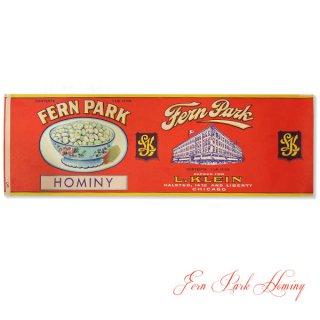 味紙 ラベル チケット 伝票 1920年代 USAヴィンテージ缶用ラベル【Fern Park Hominy】