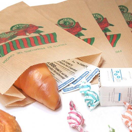 マルシェ袋 フランス 海外市場の紙袋(フルーツカートLサイズ)5枚セット【画像2】