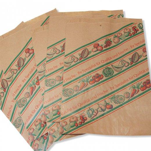 マルシェ袋 ドイツ 海外市場の紙袋(イラスト野菜・フルーツ)5枚セット【画像2】