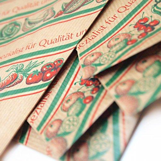 マルシェ袋 ドイツ 海外市場の紙袋(イラスト野菜・フルーツ)5枚セット【画像5】
