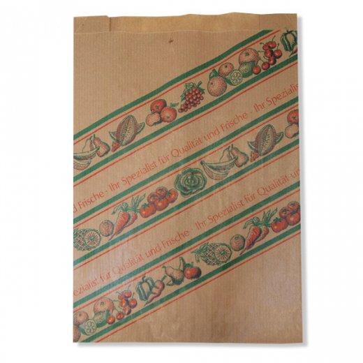 マルシェ袋 ドイツ 海外市場の紙袋(イラスト野菜・フルーツ)5枚セット【画像6】