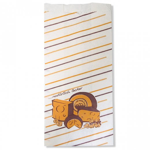 マルシェ袋 ドイツ 海外市場の紙袋(ブロックチーズ)5枚セット【画像2】