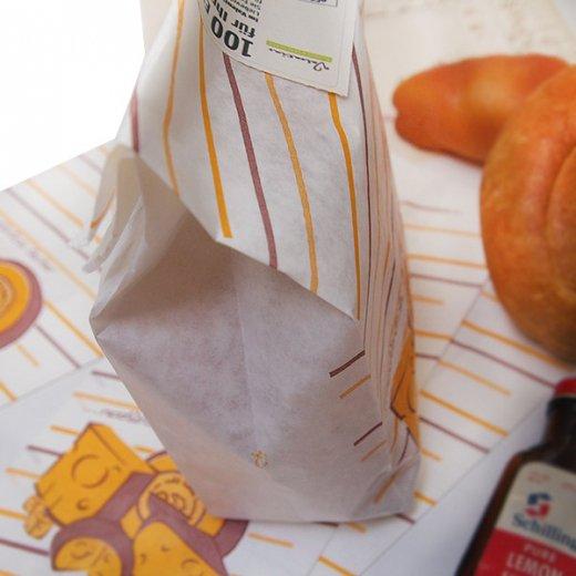 マルシェ袋 ドイツ 海外市場の紙袋(ブロックチーズ)5枚セット【画像3】