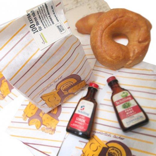 マルシェ袋 ドイツ 海外市場の紙袋(ブロックチーズ)5枚セット【画像4】