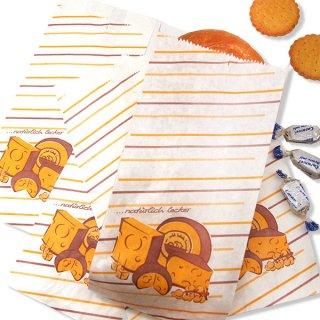 マルシェ袋 ドイツ 海外市場の紙袋(ブロックチーズ)5枚セット