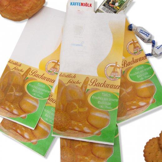 マルシェ袋 ドイツ 海外市場の紙袋(ベーカリー)5枚セット