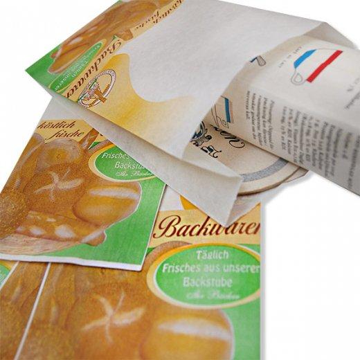 マルシェ袋 ドイツ 海外市場の紙袋(ベーカリー)5枚セット【画像3】