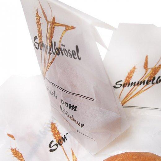マルシェ袋 ドイツ 海外市場の紙袋(パン粉・グラシン) 5枚セット【画像2】