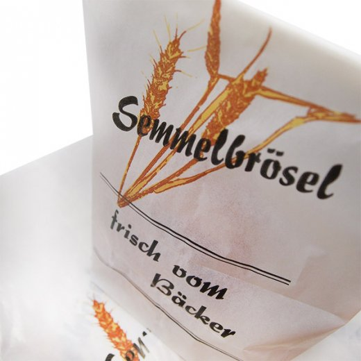 マルシェ袋 ドイツ 海外市場の紙袋(パン粉・グラシン) 5枚セット【画像4】