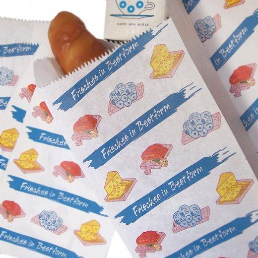 マルシェ袋 ドイツ 海外市場の紙袋(生鮮食品)5枚セット