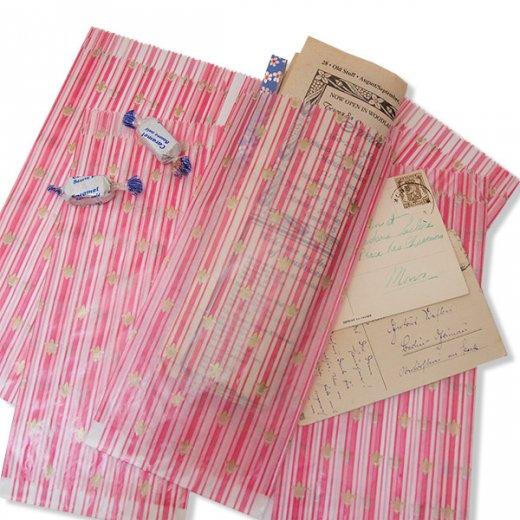 マルシェ袋 ドイツ 海外市場の紙袋(百合の紋章) 5枚セット