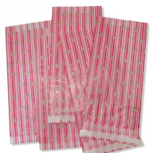 マルシェ袋 ドイツ 海外市場の紙袋(百合の紋章) 5枚セット【画像2】