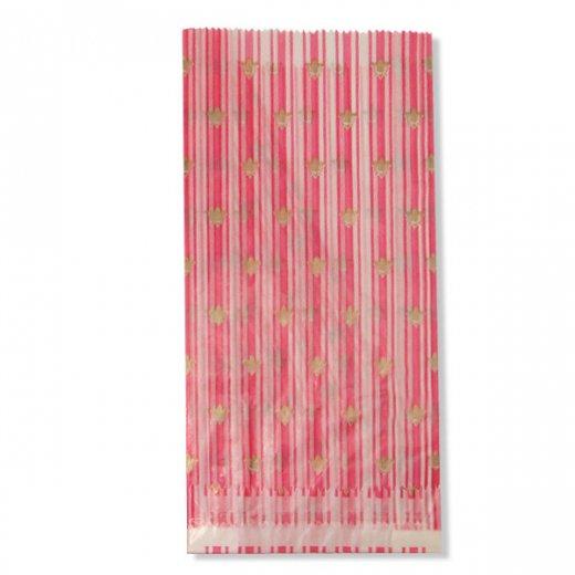 マルシェ袋 ドイツ 海外市場の紙袋(百合の紋章) 5枚セット【画像3】