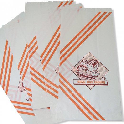 マルシェ袋 オランダ 海外市場の紙袋(ベーカリー)5枚セット【画像3】