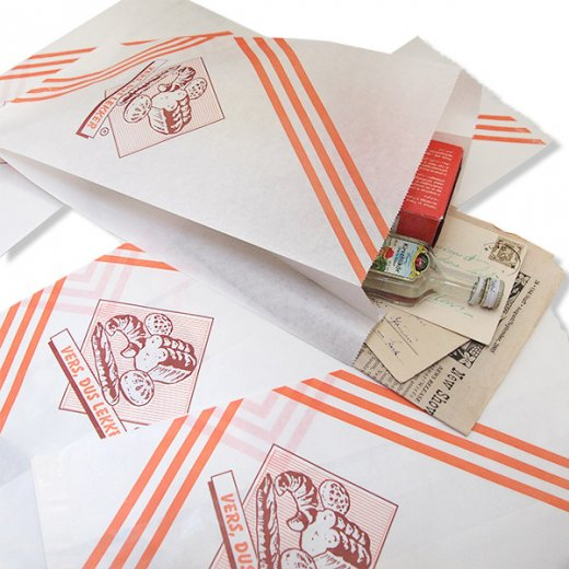 マルシェ袋 オランダ 海外市場の紙袋(ベーカリー)5枚セット【画像4】