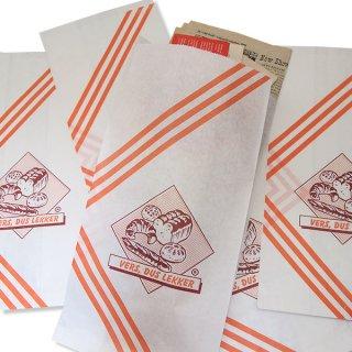 オランダ 雑貨 マルシェ袋 オランダ 海外市場の紙袋(ベーカリー)5枚セット