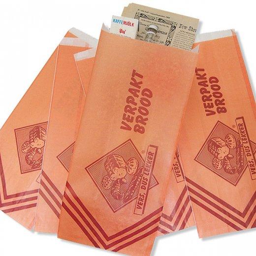 マルシェ袋 オランダ 海外市場の紙袋(ベーカリー・グラシン)5枚セット