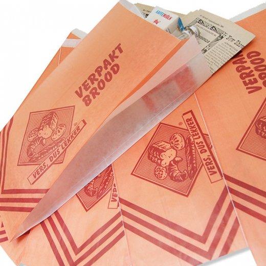マルシェ袋 オランダ 海外市場の紙袋(ベーカリー・グラシン)5枚セット【画像2】