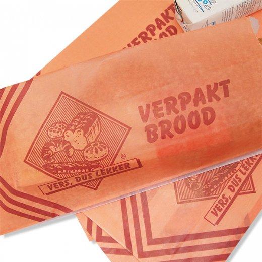 マルシェ袋 オランダ 海外市場の紙袋(ベーカリー・グラシン)5枚セット【画像4】
