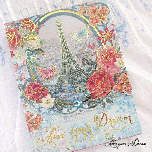 パンチスタジオ社 レターポケットメモパッド (Live your Dream)【PunchStudio】