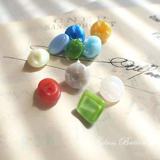 チェコ製 ヴィンテージ ガラスボタン 10ヶセット【Mix-J】【画像3】