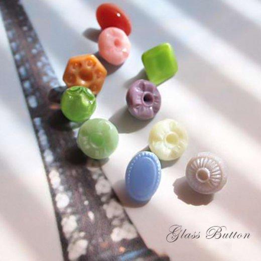 チェコ製 ヴィンテージ ガラスボタン 10ヶセット【Mix-N】【画像3】