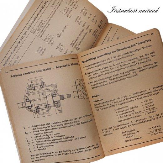ドイツ アンティーク本 ポルシェ取説 2冊セット(PORSHE 911/924)【画像3】
