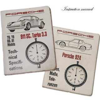 パッケージマニア ドイツ アンティーク本 ポルシェ取説 2冊セット(PORSHE 911/924)
