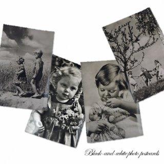ポストカード ドイツ アンティーク モノクロ写真 ポストカード 4枚セット