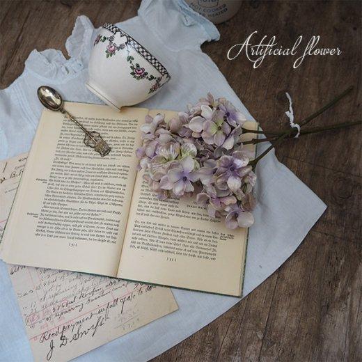 アーティフィシャルフラワー 紫陽花 パープル【antique hydrangea purple】