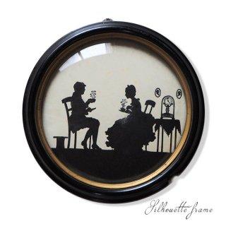 アンティーク 【送料無料】USA 1930年代 シルエット ラウンドフレーム C&A RICHARDS【Tea for Two】