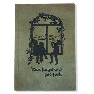 ビンテージ/アンティーク本 ドイツ 1930年代 歌集 アンティーク本 (シルエット)