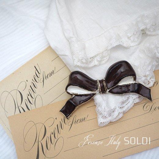SOLDI ソルディ イタリア フィレンツェ リボン【chocolat】【画像5】