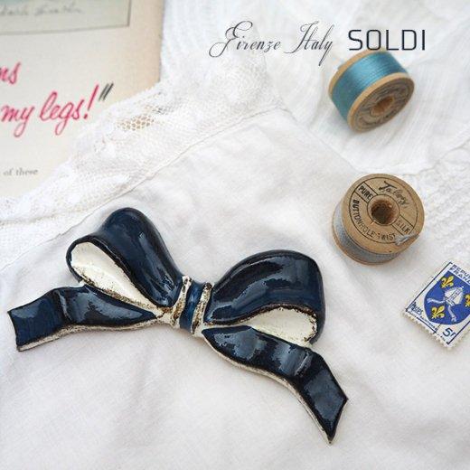 SOLDI ソルディ イタリア フィレンツェ リボン【navy blue】【画像2】