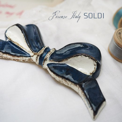 SOLDI ソルディ イタリア フィレンツェ リボン【navy blue】【画像3】