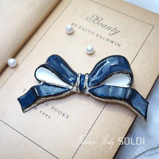 SOLDI ソルディ イタリア フィレンツェ リボン【navy blue】【画像4】