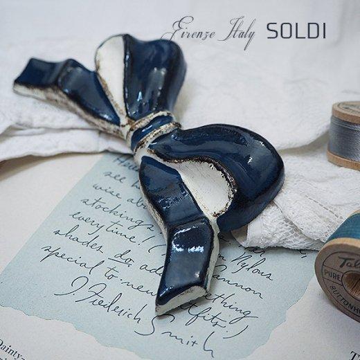 SOLDI ソルディ イタリア フィレンツェ リボン【navy blue】【画像6】