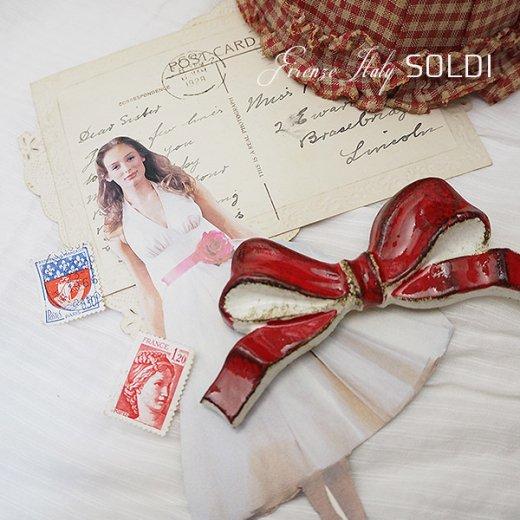 SOLDI ソルディ イタリア フィレンツェ リボン【Red】【画像3】