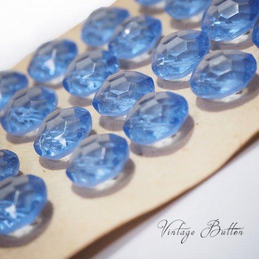 ベルギー ヴィンテージ ガラスボタン単品販売【Aqua-Gray】【画像2】