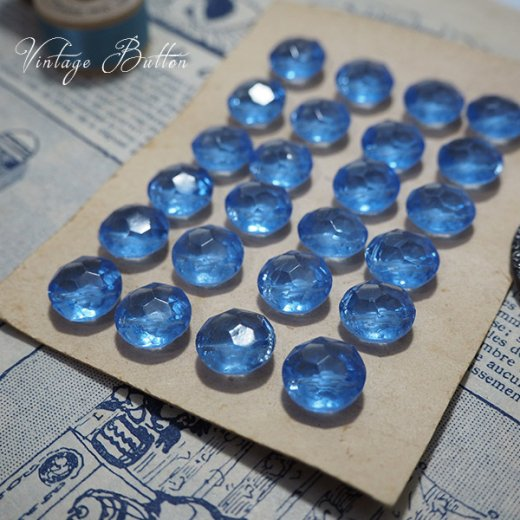ベルギー ヴィンテージ ガラスボタン単品販売【Aqua-Gray】【画像3】