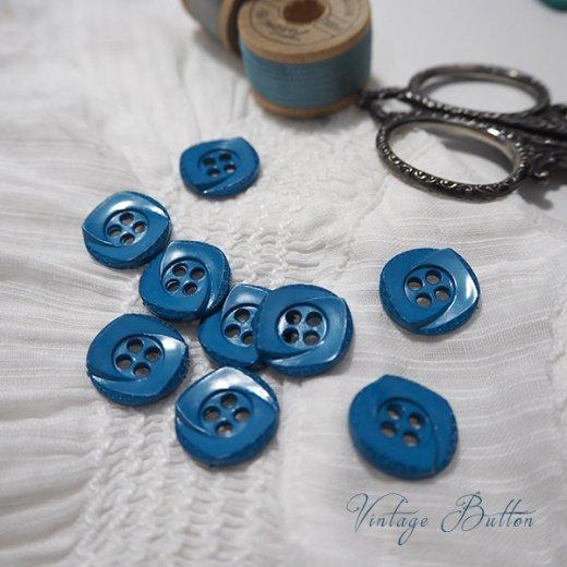 ドイツ ヴィンテージ ボタン 単品販売【Garter Blue】【画像5】