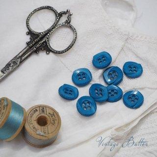 アンティーク ドイツ ヴィンテージ ボタン 単品販売【Garter Blue】
