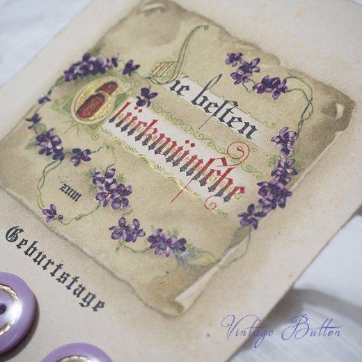 ドイツ ヴィンテージボタン付き ポストカード【Geburtstage】【画像2】