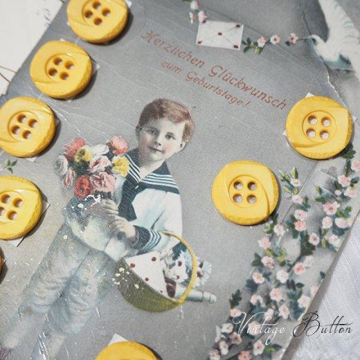 ドイツ ヴィンテージボタン付き ポストカード【Geburtstage B】【画像2】