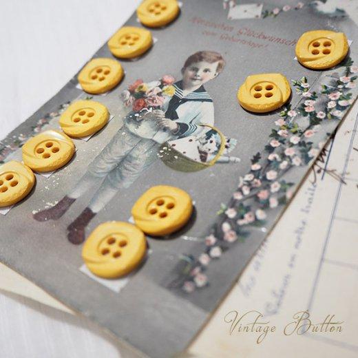 ドイツ ヴィンテージボタン付き ポストカード【Geburtstage】