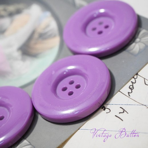ドイツ ヴィンテージボタン付き ポストカード【Purple】【画像4】