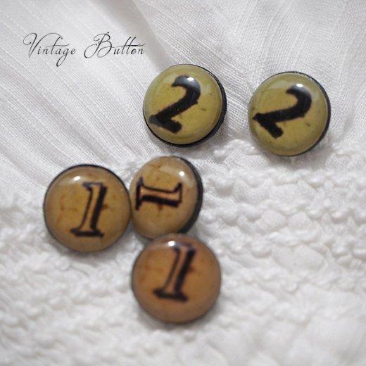イギリス ヴィンテージ ボタン 単品販売【数字とスイーツ】【画像4】