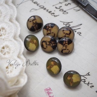 アンティーク イギリス ヴィンテージ ボタン 単品販売【おじさんと足】