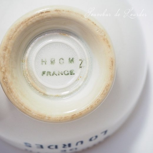フランス アンティーク カフェオレボウル ルルドの泉 souvenir de lourdes【直径9cm】【画像6】