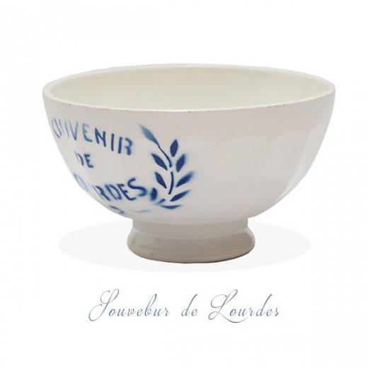 【送料無料】フランス アンティーク カフェオレボウル ルルドの泉 souvenir de lourdes leaf【直径9.5cm】【画像2】